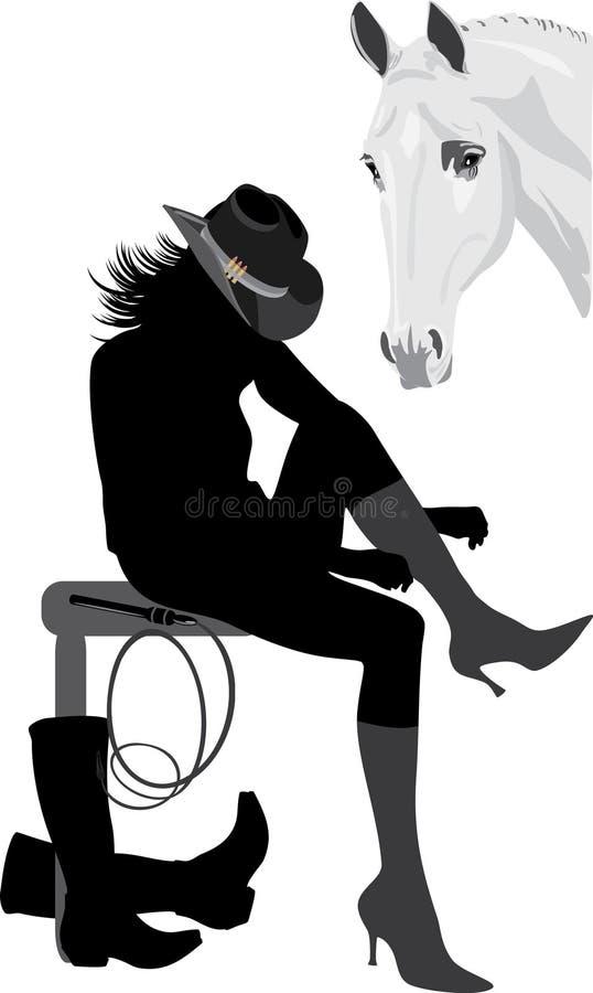γυναίκα σκιαγραφιών κάο&upsilo ελεύθερη απεικόνιση δικαιώματος