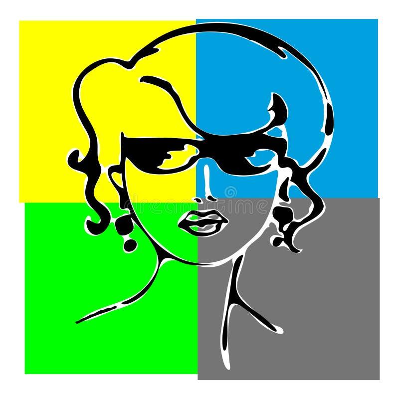 γυναίκα σκιαγραφιών προ&sigma ελεύθερη απεικόνιση δικαιώματος