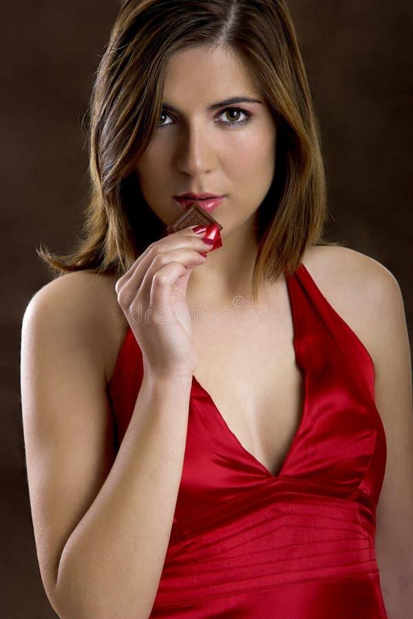 γυναίκα σοκολάτας στοκ εικόνα με δικαίωμα ελεύθερης χρήσης
