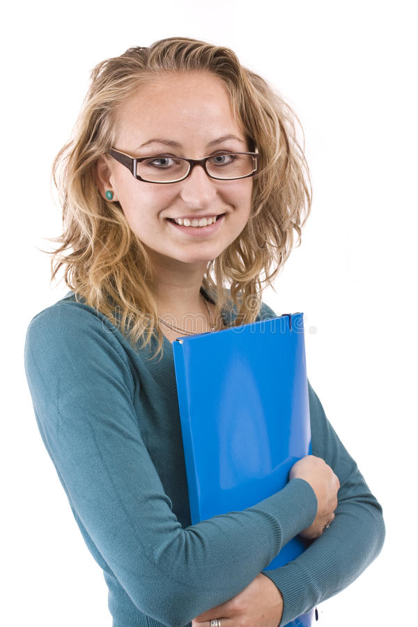 Download γυναίκα σπουδαστής στοκ εικόνα. εικόνα από πρόσωπο, μάθετε - 17056573