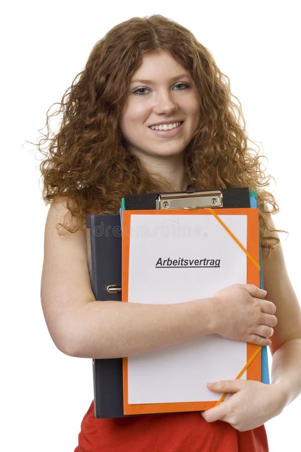 γυναίκα σπουδαστής employme σ&upsil στοκ φωτογραφία με δικαίωμα ελεύθερης χρήσης