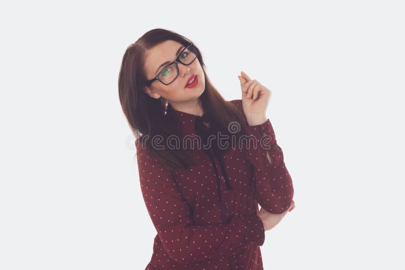 Γυναίκα στα γυαλιά με τα γυαλιά στοκ εικόνες