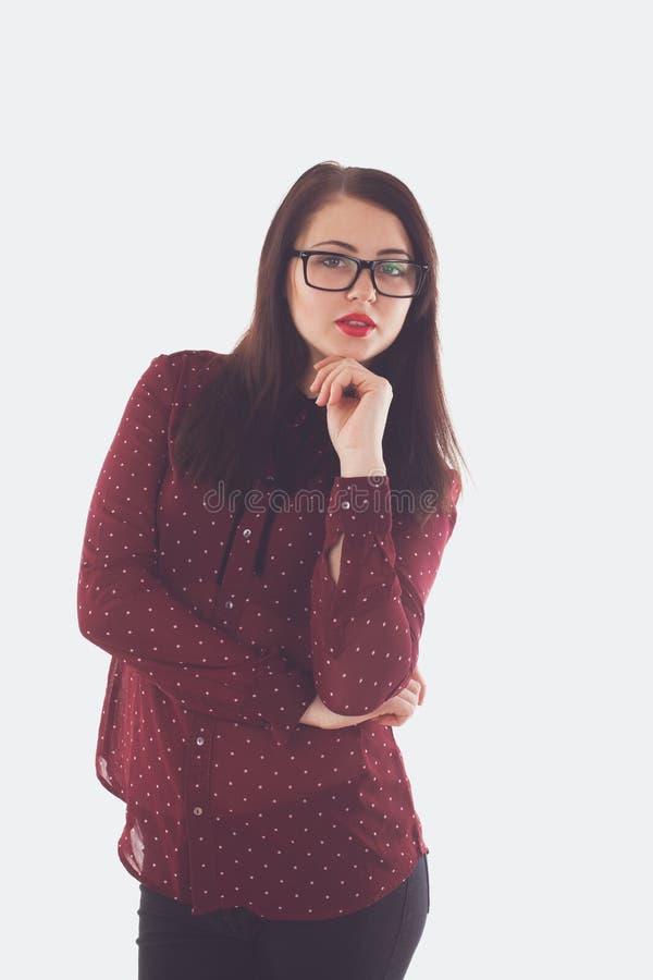 Γυναίκα στα γυαλιά με τα γυαλιά στοκ φωτογραφίες