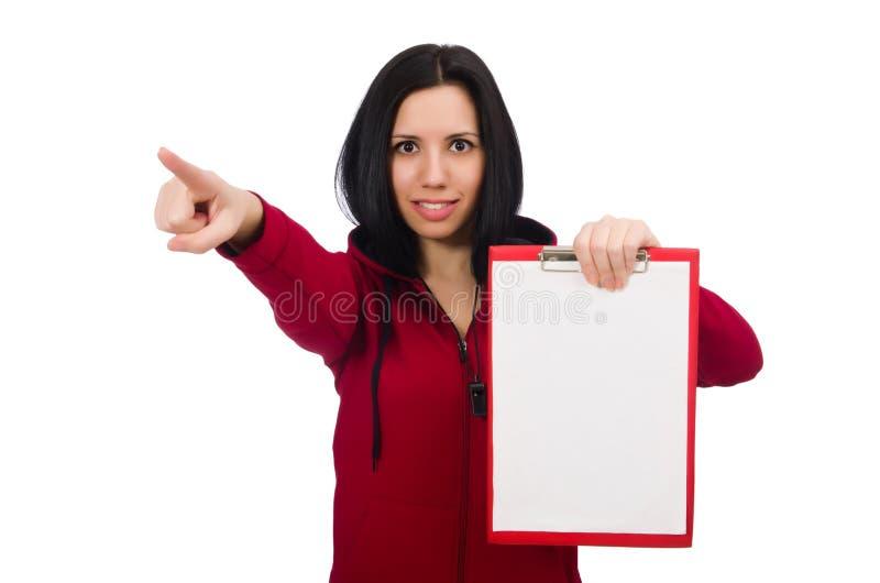 Download Γυναίκα στην αθλητική έννοια στο άσπρο υπόβαθρο Στοκ Εικόνα - εικόνα από bodybuilders, τακτοποίηση: 62703929