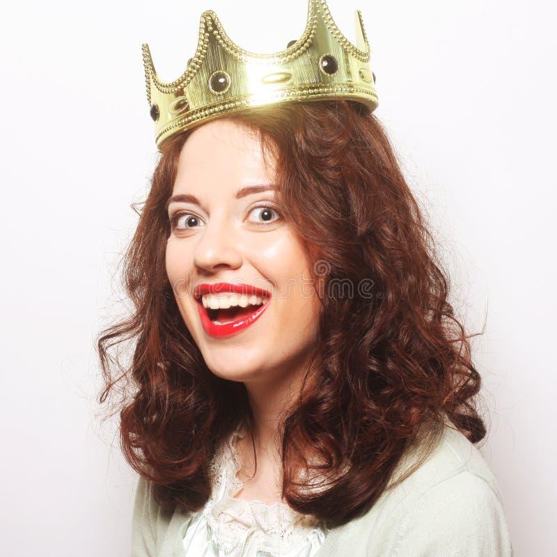 Γυναίκα στην κορώνα στοκ φωτογραφία με δικαίωμα ελεύθερης χρήσης