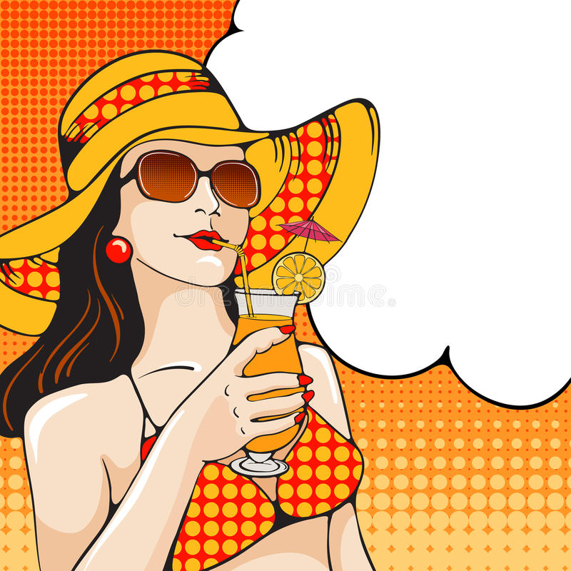Γυναίκα στην παραλία διανυσματική απεικόνιση