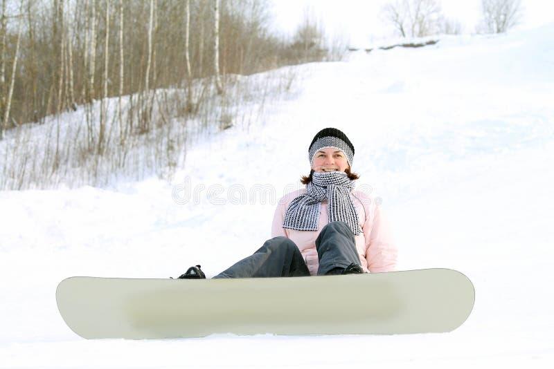 Γυναίκα στο χιόνι στοκ εικόνες