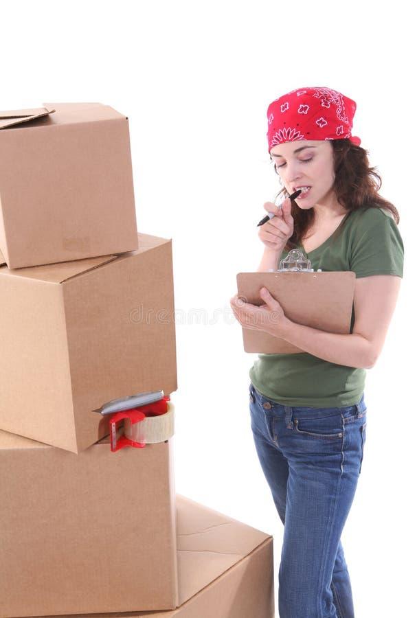 γυναίκα συσκευασίας στοκ εικόνες με δικαίωμα ελεύθερης χρήσης
