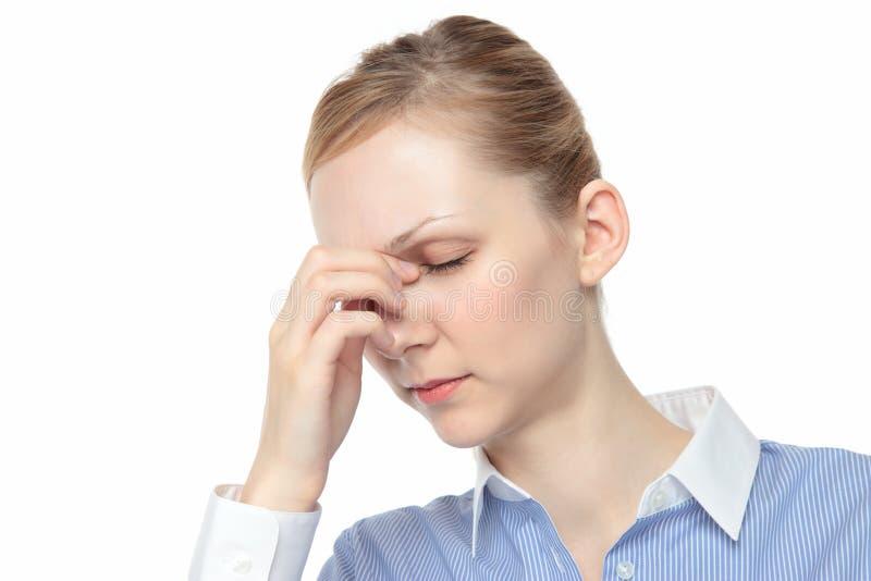 Γυναίκα σχετικά με τα δάκρυα στοκ εικόνες