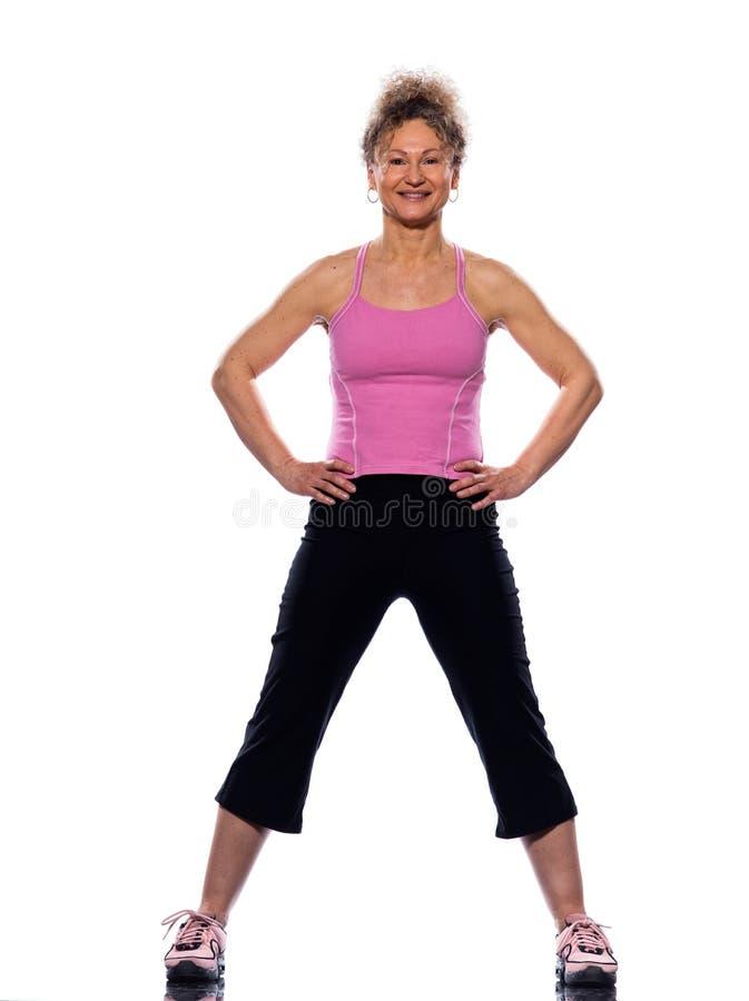 γυναίκα τεντώματος στάσης στοκ φωτογραφία με δικαίωμα ελεύθερης χρήσης