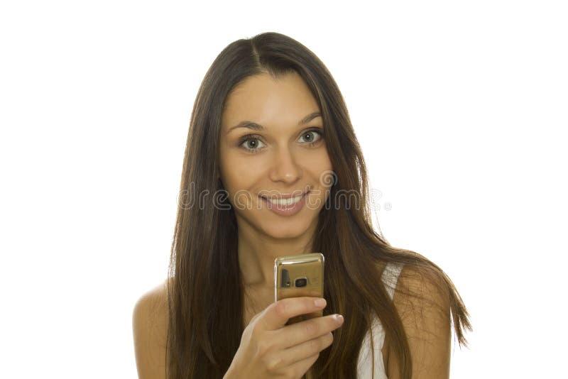 γυναίκα τηλεφωνικής ανάγ&n στοκ εικόνες με δικαίωμα ελεύθερης χρήσης