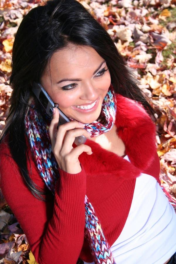 Download γυναίκα τηλεφωνικής σκη&n στοκ εικόνα. εικόνα από αισθησιακός - 1543417
