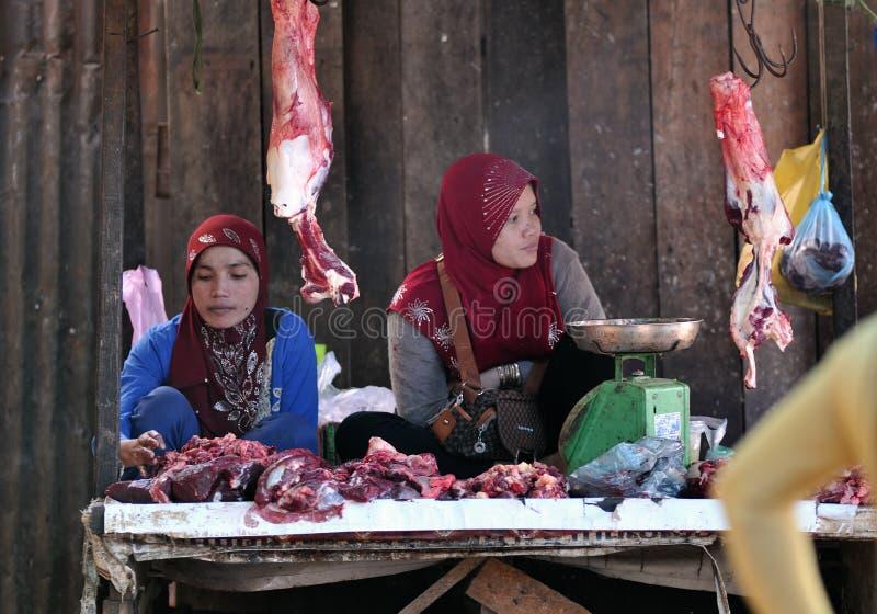 Γυναίκα της Ασίας αγοράς τροφίμων της Καμπότζης στοκ φωτογραφία με δικαίωμα ελεύθερης χρήσης