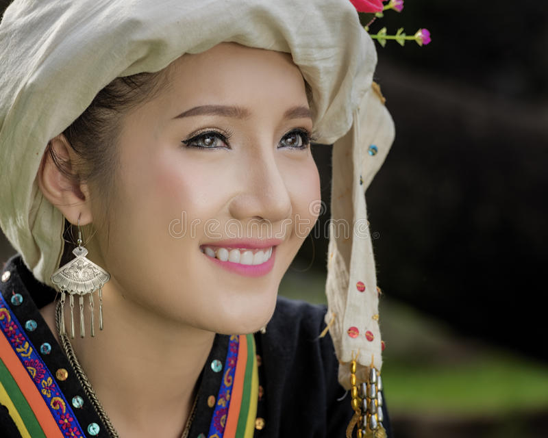Γυναίκα του Λάος στοκ εικόνες