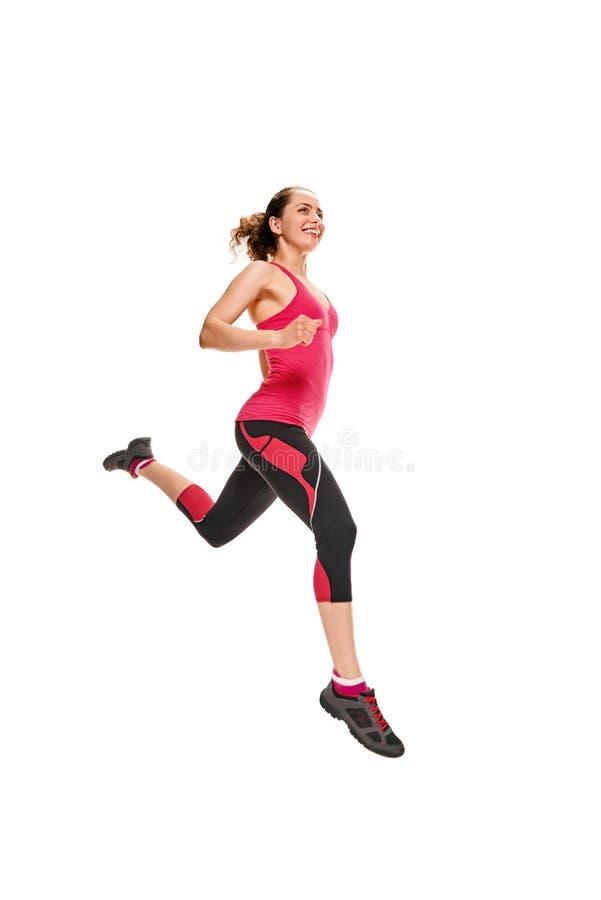 Γυναίκα τρεξίματος και Jogging στοκ εικόνα με δικαίωμα ελεύθερης χρήσης
