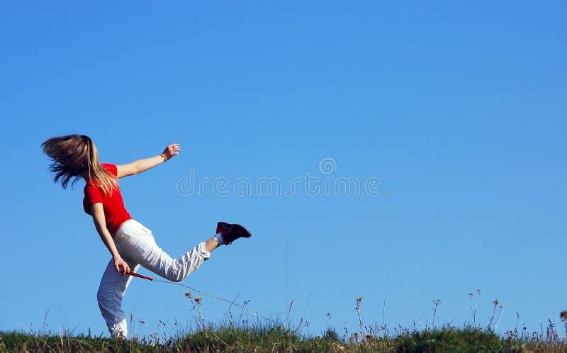 γυναίκα τρεξίματος στοκ εικόνες