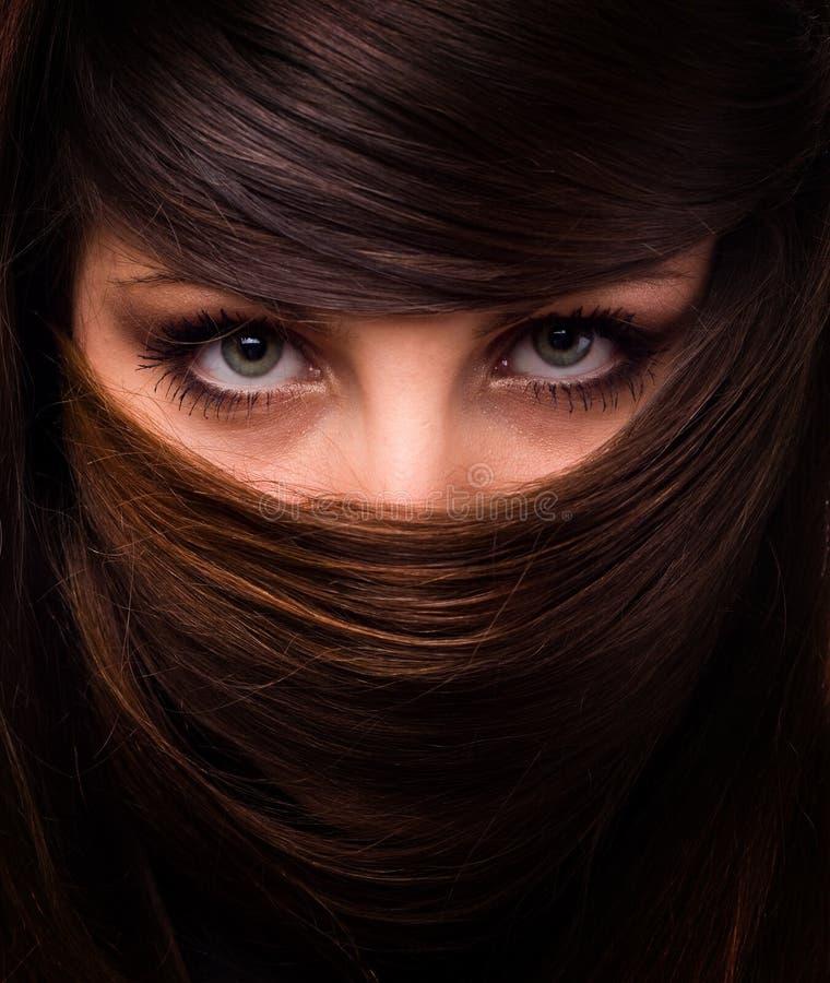 γυναίκα τριχώματος προσώπου στοκ φωτογραφία με δικαίωμα ελεύθερης χρήσης