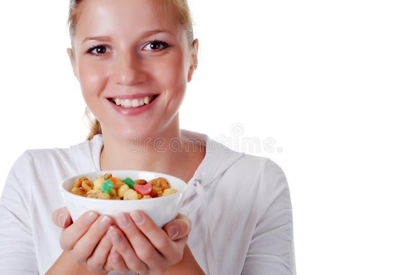 γυναίκα τροφίμων στοκ φωτογραφία με δικαίωμα ελεύθερης χρήσης