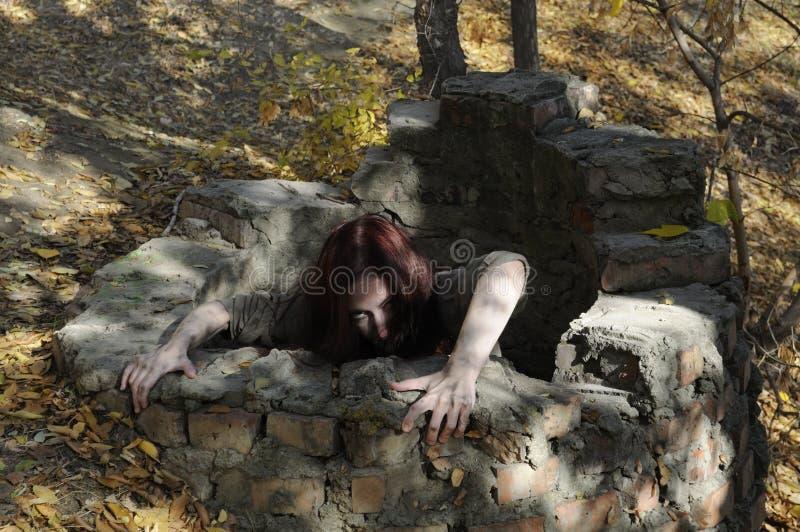 Γυναίκα φρίκης στοκ φωτογραφίες με δικαίωμα ελεύθερης χρήσης