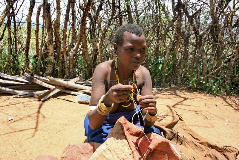 γυναίκα φυλών της Τανζανί&alpha στοκ εικόνες με δικαίωμα ελεύθερης χρήσης