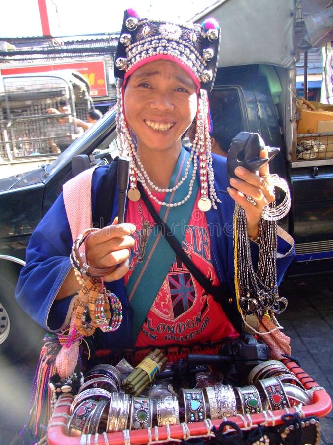 γυναίκα φυλών της Ταϊλάνδη& στοκ φωτογραφίες με δικαίωμα ελεύθερης χρήσης