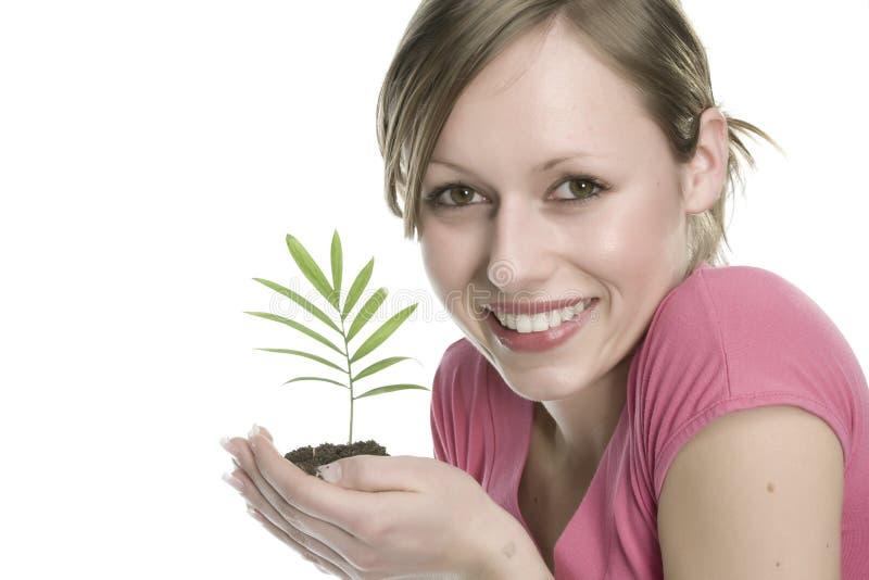 γυναίκα φυτών στοκ φωτογραφίες