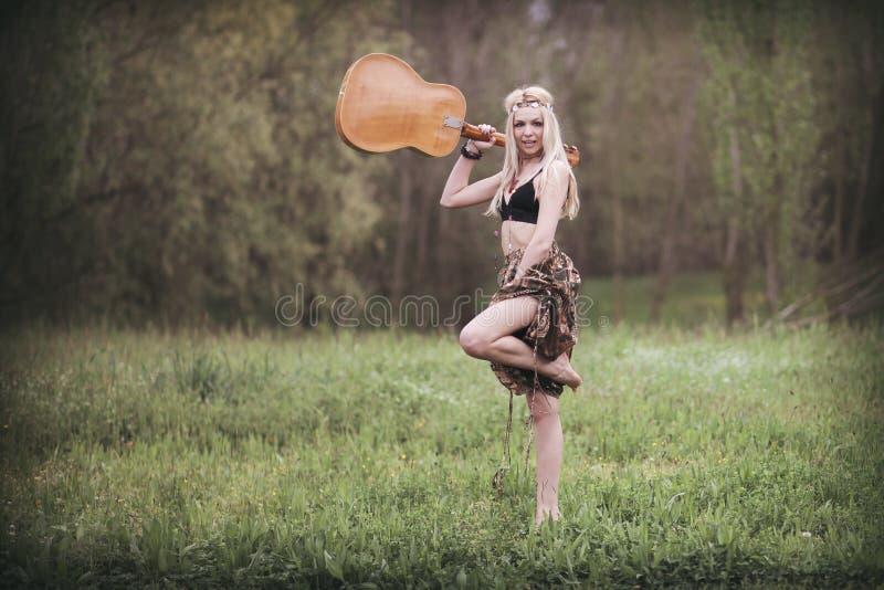 Γυναίκα χίπηδων στοκ φωτογραφία