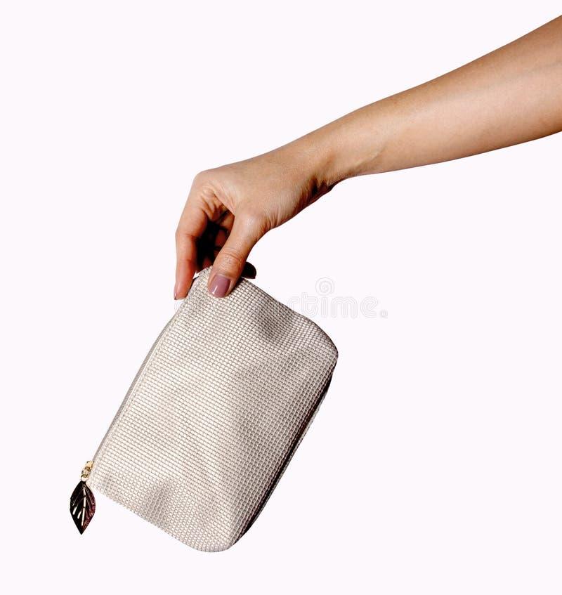 Γυναίκα χειρονομίας χεριών προειδοποίησης στο λευκό στοκ φωτογραφία με δικαίωμα ελεύθερης χρήσης