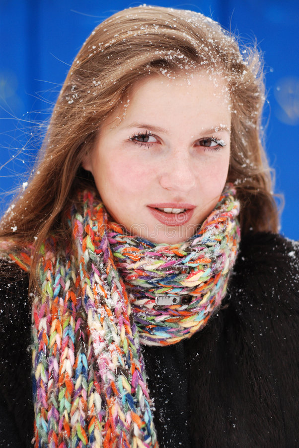 γυναίκα χιονιού στοκ εικόνα με δικαίωμα ελεύθερης χρήσης