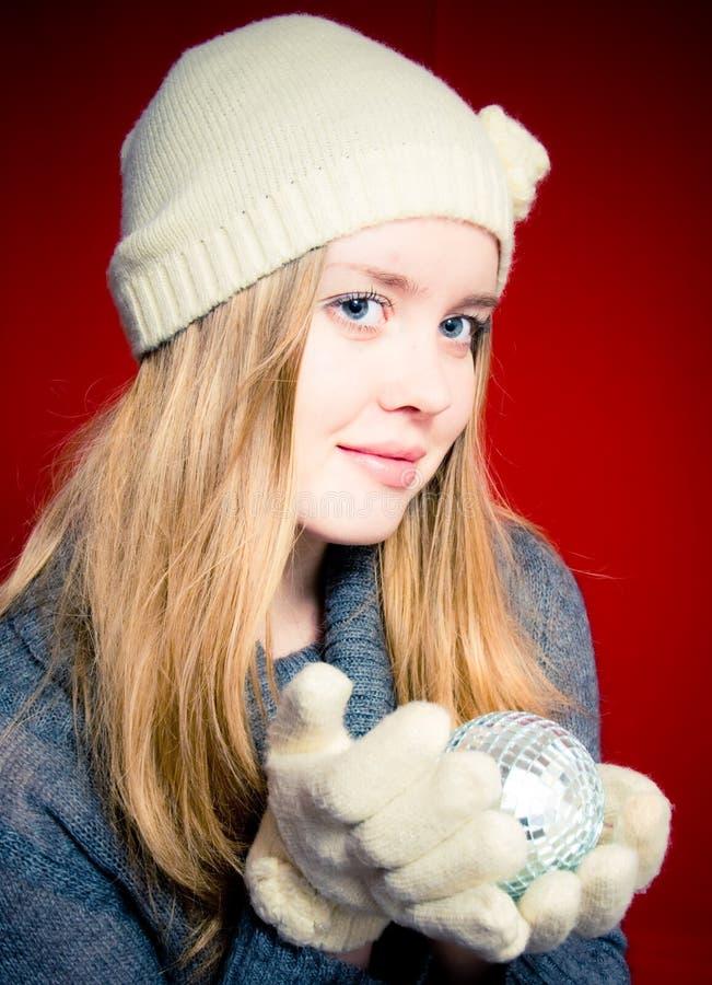 γυναίκα Χριστουγέννων σφ& στοκ φωτογραφίες