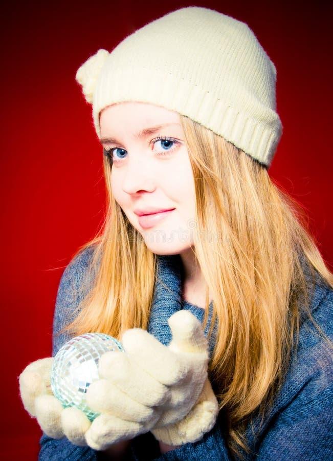 γυναίκα Χριστουγέννων σφ& στοκ φωτογραφία με δικαίωμα ελεύθερης χρήσης