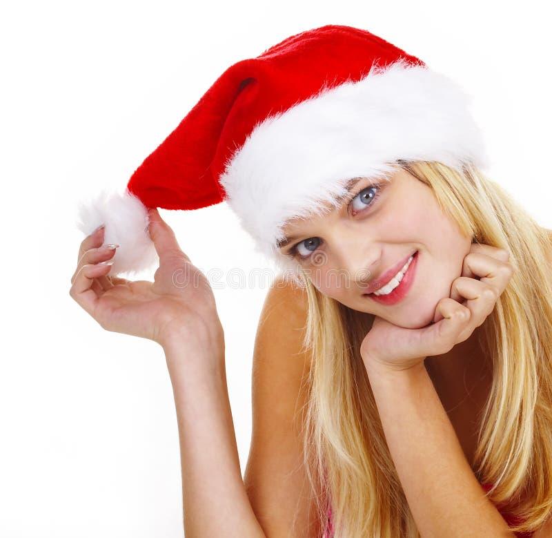 Download γυναίκα Χριστουγέννων στοκ εικόνες. εικόνα από ευχαρίστηση - 1540176