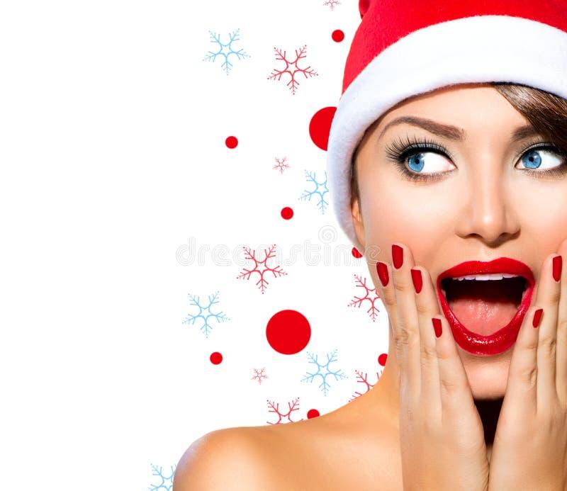 Γυναίκα Χριστουγέννων στοκ εικόνα