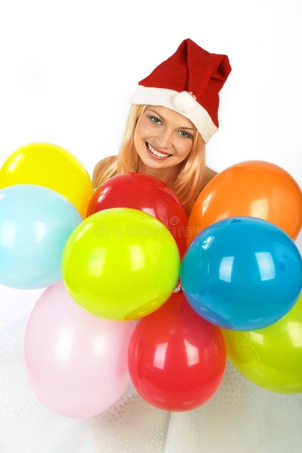 Download γυναίκα Χριστουγέννων στοκ εικόνες. εικόνα από μπαλόνι - 380602