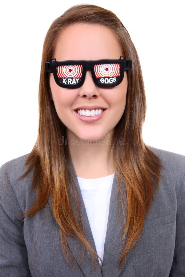 γυναίκα Χ ακτίνων γυαλιών στοκ εικόνες με δικαίωμα ελεύθερης χρήσης