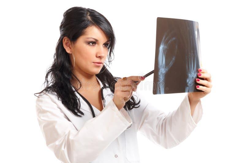 γυναίκα Χ ακτίνων ιατρικής γιατρών στοκ φωτογραφία με δικαίωμα ελεύθερης χρήσης