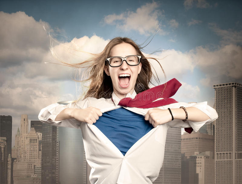 Γυναίκα όπως ένα superhero