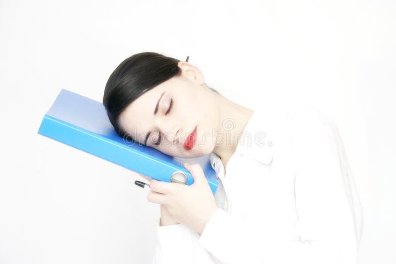 γυναίκα ύπνου 2 επιχειρήσεων στοκ φωτογραφίες με δικαίωμα ελεύθερης χρήσης