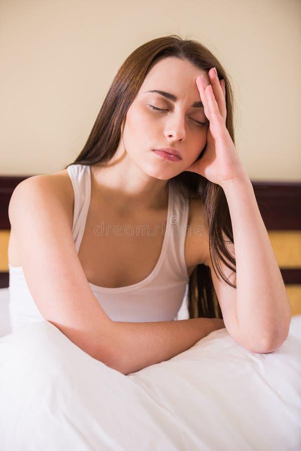 γυναίκα ύπνου στοκ εικόνα