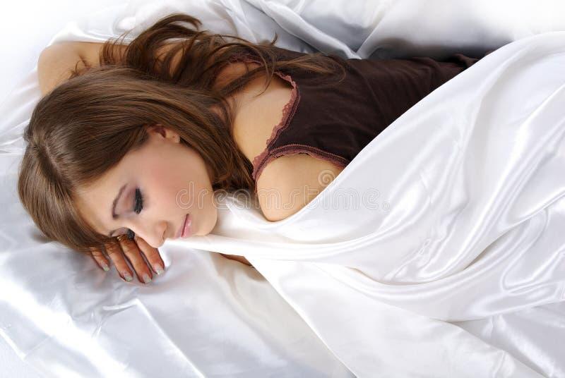 γυναίκα ύπνου στοκ φωτογραφία