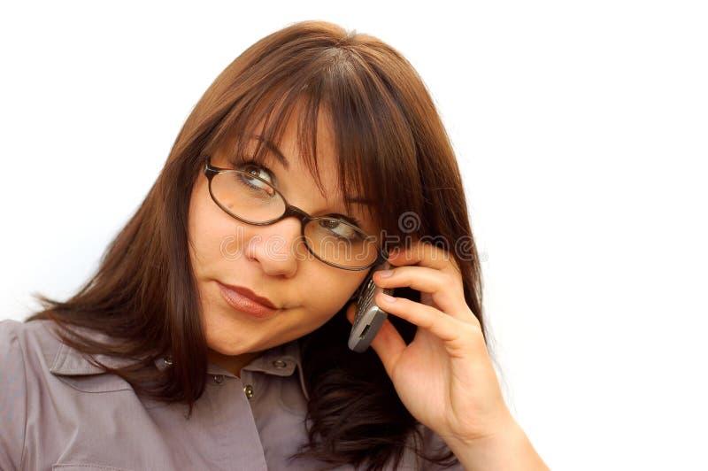 γυναίκα 5 τηλεφώνων στοκ εικόνα με δικαίωμα ελεύθερης χρήσης