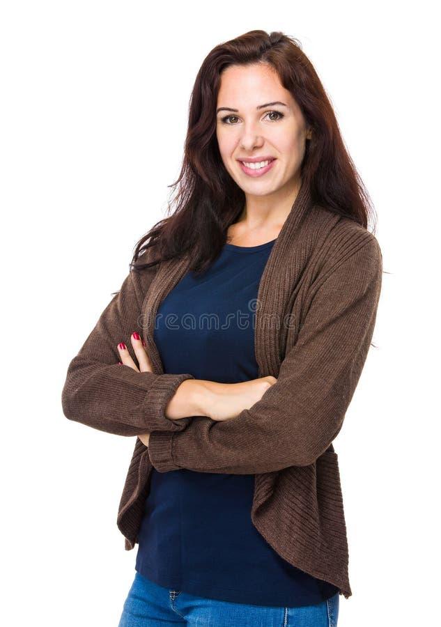 Γυναίκα crosshand στοκ εικόνες με δικαίωμα ελεύθερης χρήσης