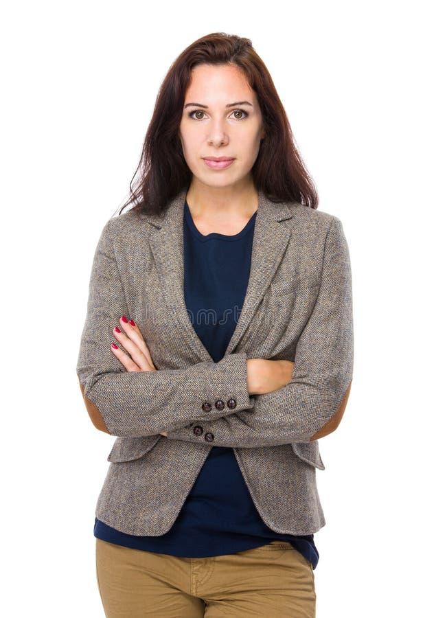 Γυναίκα crosshand στοκ φωτογραφία με δικαίωμα ελεύθερης χρήσης