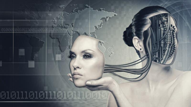 Γυναίκα Cyborg απεικόνιση αποθεμάτων