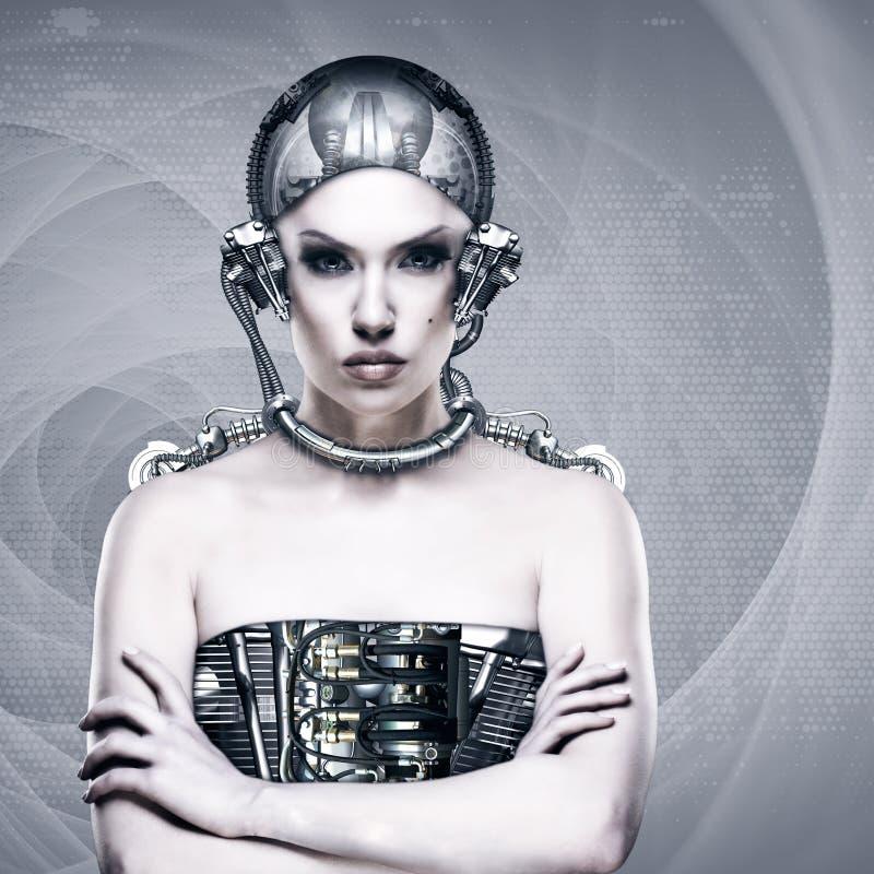 Γυναίκα Cyborg στοκ φωτογραφία με δικαίωμα ελεύθερης χρήσης
