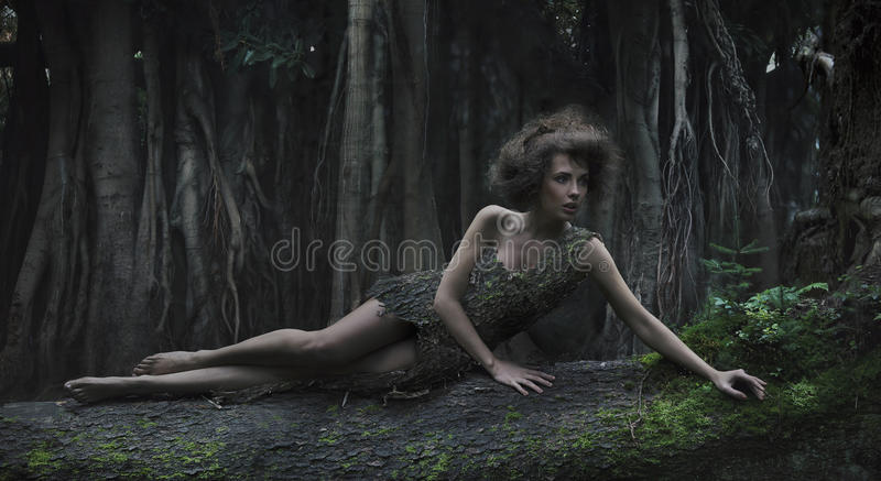 γυναίκα Eco Στοκ Φωτογραφίες