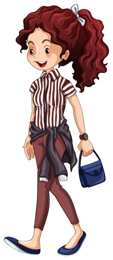Γυναίκα Hipster διανυσματική απεικόνιση