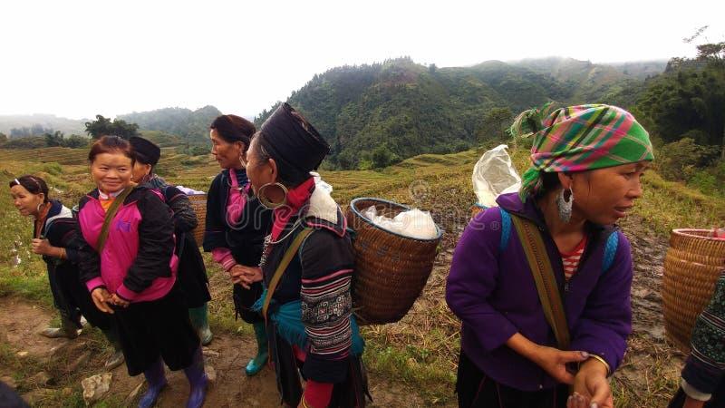 Γυναίκα Hmong Sapa στοκ φωτογραφία