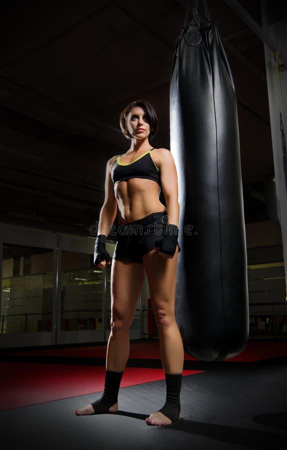Γυναίκα Kickboxer στοκ φωτογραφία