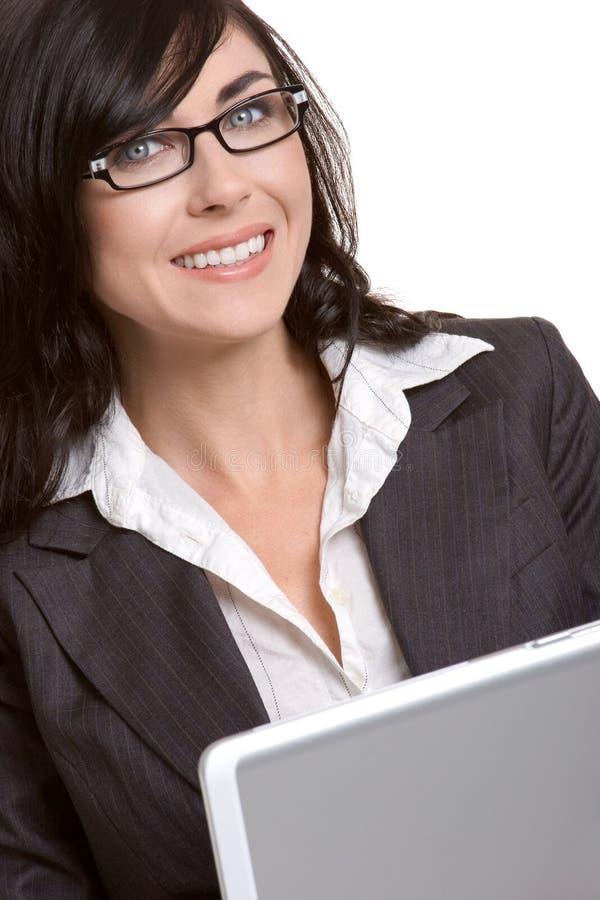 Download γυναίκα lap-top στοκ εικόνα. εικόνα από γυναίκα, νέος - 2226885